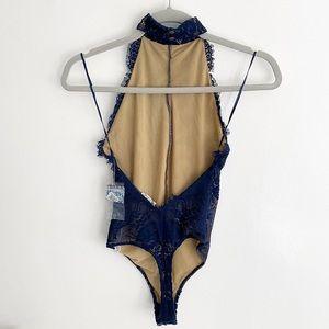 Free People Intimates & Sleepwear - Free People 'Miley' High Neck Lace Bodysuit